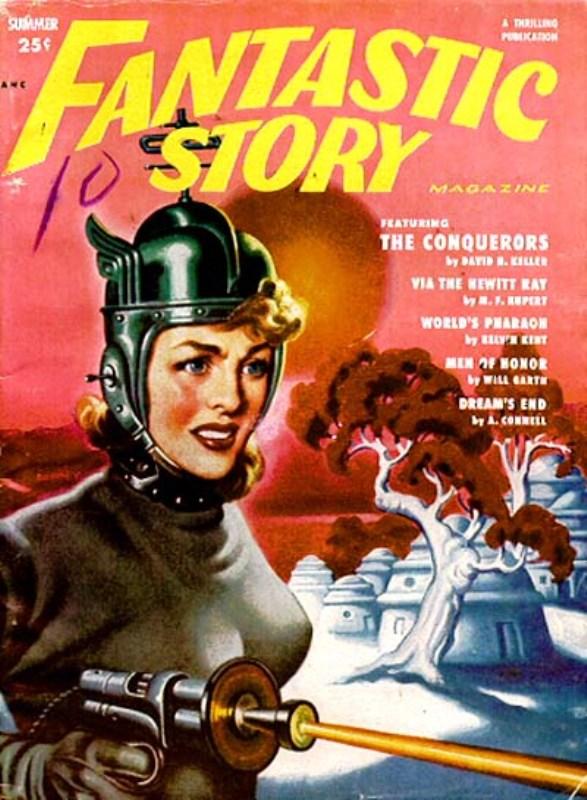 Fantastic Story Magazine 1950 Pulp Comic Books: FANTASTIC STORIES PAGE 1